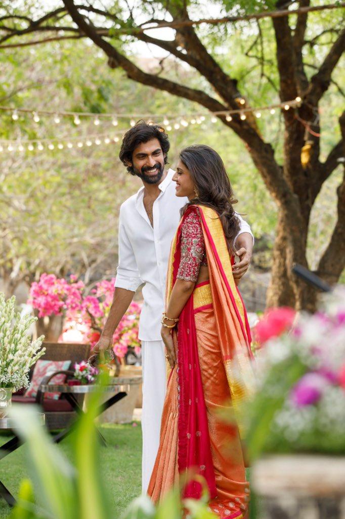 Rana officially gets engaged with Mihika Bajaj - Rana Daggupati ...