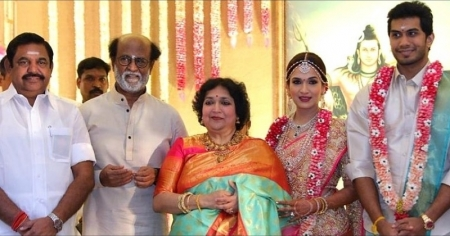 EPS, OPS, Alagiri,Vaiko attend Rajini daughter's wedding