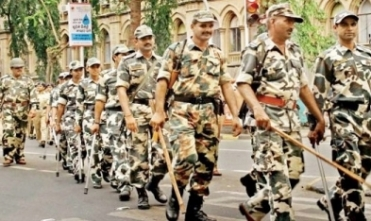 Paramilitary force reach city for poll duty