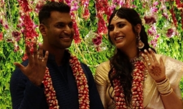 Vishal, Anisha get engaged in Hyderabad