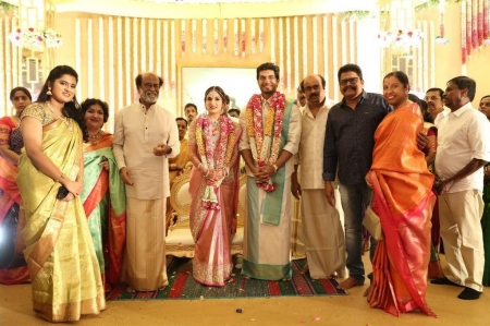 Whise who attended Rajini's daughter wedding